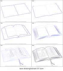 how to draw an open book printable step by step drawing sheet