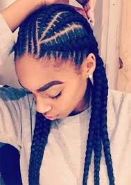 cornrows hairstyle with part in the middle 125 goddess braids all about this hot hairstyle reachel