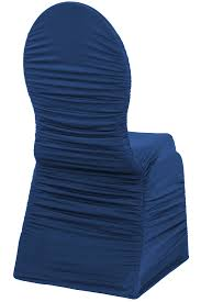 blue chair covers ruched fashoin spandex banquet chair cover navy blue at cv linens