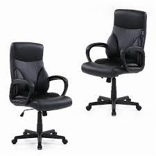 White Swivel Office Chair Us Stock Ikayaa Dxracer Pu Leather Adjustable Swivel Office