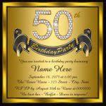 50th birthday party invitations templates surprise 50th birthday