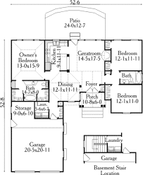 traditional style house plan 3 beds 2 00 baths 1392 sq ft plan