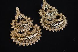 stylish earrings intricately designed bronze tone stylish earrings