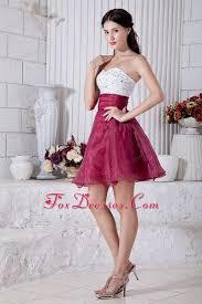 high school graduation dress burgundy a line mini beading graduation homecoming dress
