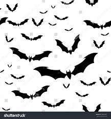 seamless pattern flock bats on white stock vector 490626001
