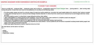 graphic designer work experience certificate