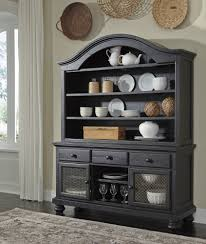 sharlowe charcoal dining room hutch d635 61 hutch i