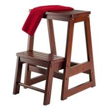 Library Step Stool Chair Combo Amish Library Chair And Step Stool Combo Chairs Stools And