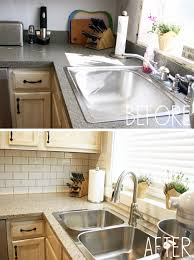 Kitchen Counters And Backsplashes Our New Kitchen Countertops And Backsplash U2026 U2013 Less Than Average Height
