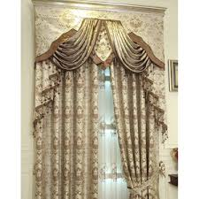 Floral Jacquard Curtains Purple Floral Jacquard Polyester Custom Elegant Curtains And Drapes