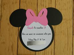 always homemade minnie mouse birthday invitation