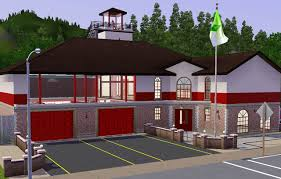 Fire Station Floor Plans Mod The Sims Sunset Valley Fire Department