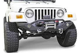 jeep bumper fishbone offroad fb22016 front winch bumper with led u0027s for 87 06