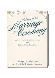 Wedding Booklets Design Our Day Wedding Ceremony Booklets U2013 Design Our Day Wedding