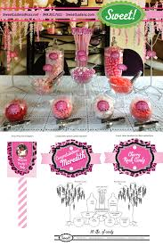 Pink And Black Candy Buffet by Pink Leopard With Pink And Black Candy Buffet For A Shower