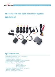 new milimeter radar microwave car blind spot detection sensor