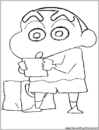 shin chan colouring pages funycoloring