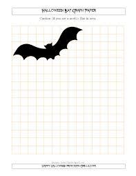halloween bat 1 2 inch graph paper