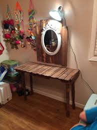 Lying Vanities Definition Makeup Vanity Made From Recycled Pallets Old Bed Frame And