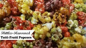 tutti cuisine skittles flavoured tutti frutti popcorn