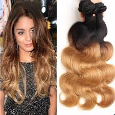 honey weave honey ombre indian wave hair extensions 1b 27 two