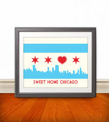 Mexican Party Flags Chicago Flag With Skyline U0026 Heart Sweet Home Chicago Chicago