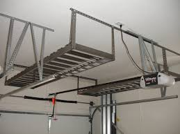 hanging ceiling diy custom overhead garage storage rack shelves