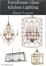Chandelier Kitchen Lighting Farmhouse Kitchen Chandelier My Soulful Home