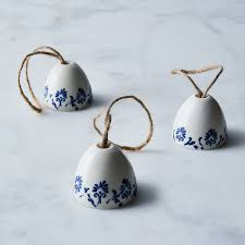 ceramic bell shaped ornaments set of 3 on food52