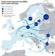 Europe And Russia Map by How The Kremlin Influences The West Using Russian Criminal Groups