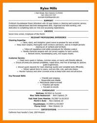 Housekeeper Resume Sample by 4 Hotel Housekeeping Resume Sample Service Letters