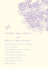 purple flower and butterfly wedding invitations ins262 ins262