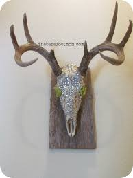 deer head bling mount craft this pinterest cow skull craft