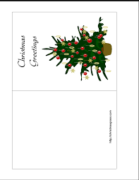 holiday greeting card with christmas tree