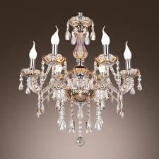 Crystal Glass Chandelier Fashion Style 1 Tier Crystal Chandeliers Beautifulhalo Com