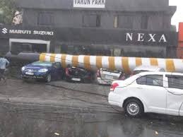 nissan micra on road price in hyderabad cars damaged in hyderabad due to thunderstorm and heavy rain 4