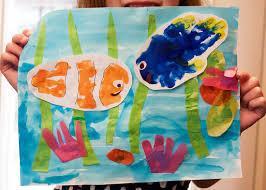 finding dory handprint art disney family