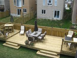 Wooden Decks And Patios Flat Decks And Small Back Yard Patio Designs With Deck Backyard
