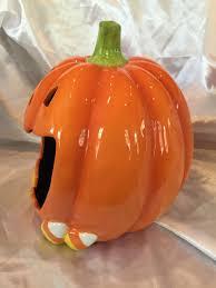 brand new kohl u0027s halloween ceramic jack o u0027lantern candy dish or