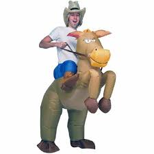 brown cowboy horse funny inflatable costume halloween