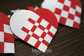 how to make beautiful danish heart baskets free template