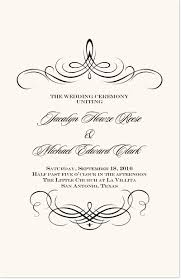 classic wedding programs flourish monogram 04 classic wedding ceremony programs and custom
