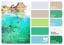 beach house interior paint colors and coastal summer beach tones
