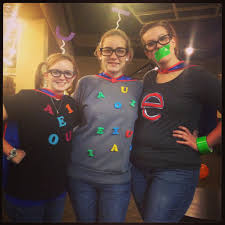 cute halloween costume idea the vowels long sounds short sounds