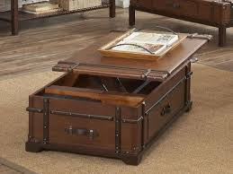 leather chest coffee table wood and glass console tv wooden tables