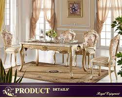 0111 io furniture champagne gold solid wood dining room furniture