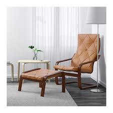 Chair With Ottoman Ikea Poäng Armchair Medium Brown Glose Robust White Medium