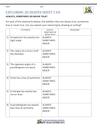 4 Types Of Sentences Worksheet 4th Grade Geometry