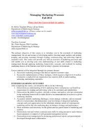 Case Manager Cover Letter Managing Marketing Processes Course Description Final2