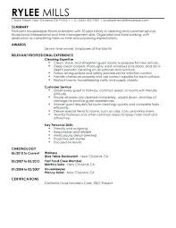 professional experience exles for resume resume exles housekeeping housekeeping housekeeper room attendant